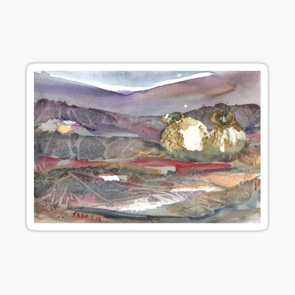 Grazing, Lochindorb 3, Scotland  Sticker
