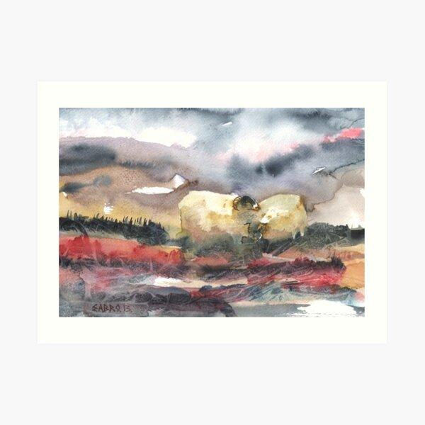 Grazing, Lochindorb 2, Scotland - 2013 Art Print