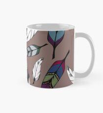 Colorful tribal feathers print. Vector illustration Mug