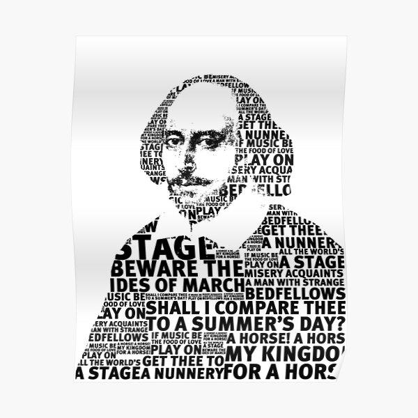 SHAKESPEARE TEXT ART Poster
