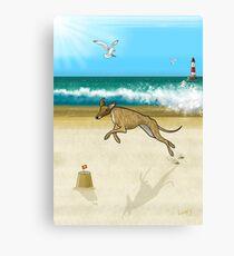 Brindle on the Beach Canvas Print