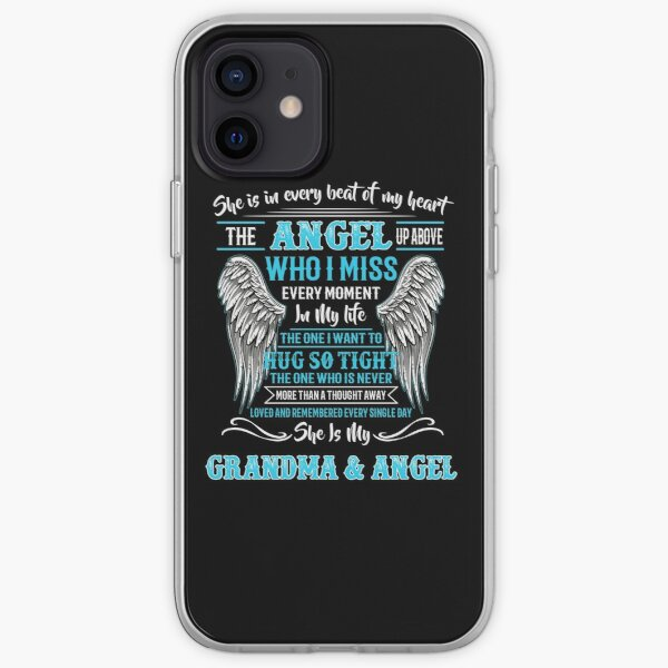 Remembered Every Single Day She Is My Grandma & Angel iPhone Soft Case