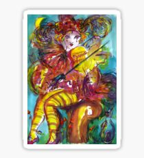 PIERO PLAYING VIOLIN / Venetian Carnival Night Sticker
