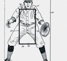 Baseball Pitcher's Practice Target Patent 1924 Sticker