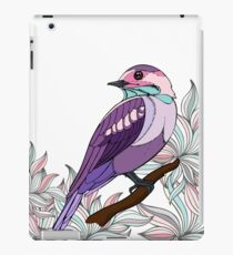 Purple bird vector illustration print iPad Case/Skin