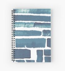 Blue different brush strokes Spiral Notebook