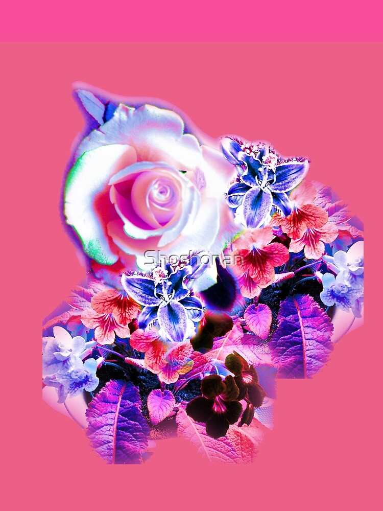 FLORAL ELECTRIC ROSE by Shoshonan