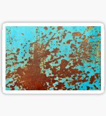 rusty metal sheet Sticker