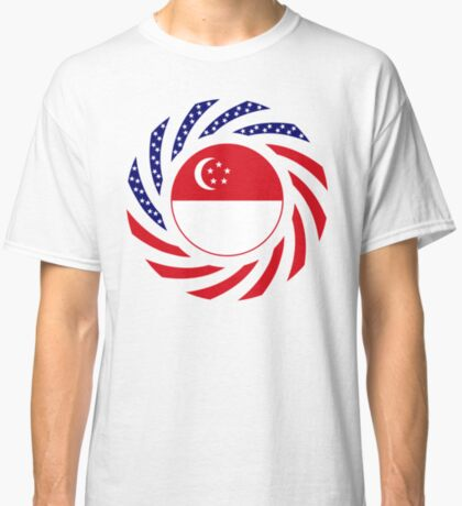Singapore American Multinational Patriot Flag Series Classic T-Shirt
