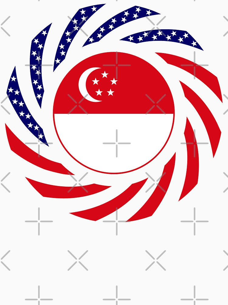 Singapore American Multinational Patriot Flag Series by carbonfibreme