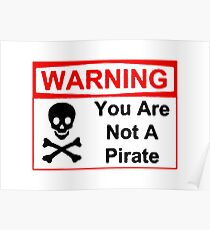 Funny Pirate Warning Poster