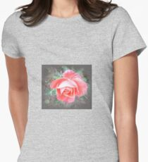 zarte Rose... Womens Fitted T-Shirt