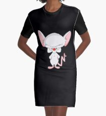 Pinky and The Brain - Brain Graphic T-Shirt Dress