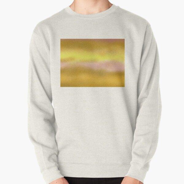 Sun Lake Abstract Art Gold Lilac Sand Pullover Sweatshirt