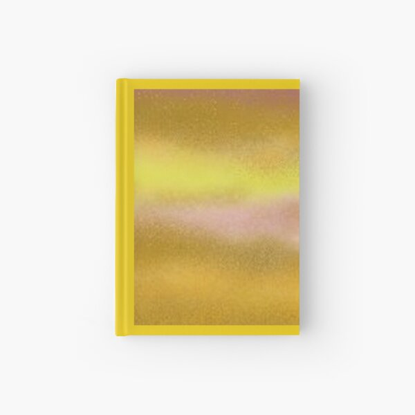 Sun Lake Abstract Art Gold Lilac Sand Hardcover Journal