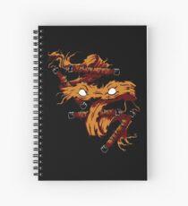 Orange Rage Spiral Notebook