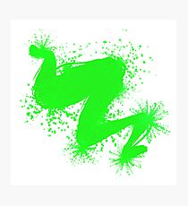 Speckle Gravity Green Photographic Print