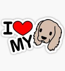 I Love My Cocker Spaniel Sticker