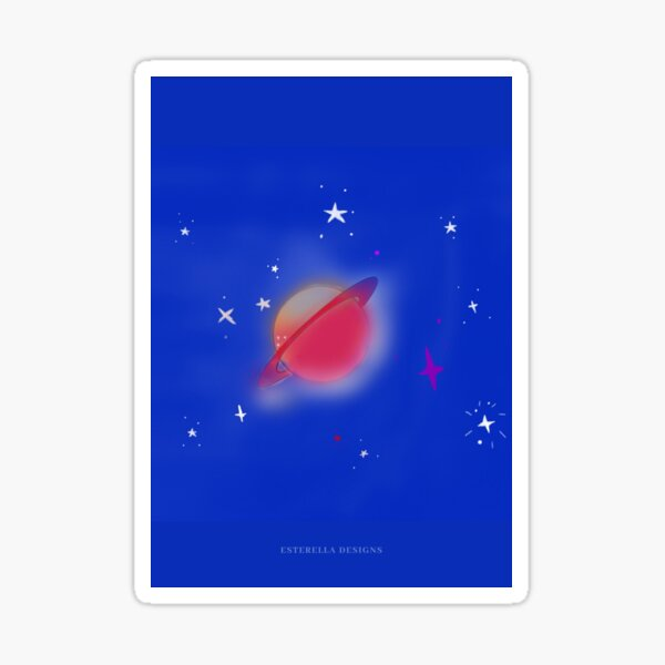 Space and Planet  Sticker