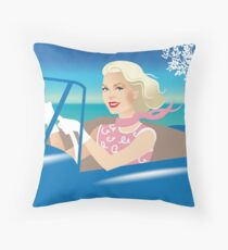 Driving Grace Throw Pillow