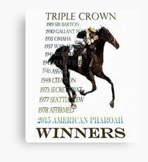 Triple Crown Winners 2015 American Pharoah Canvas Print