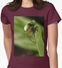 """Beauty """"green Spider Lucky"""" 1(c)(h)  by Olao-Olavia / Okaio Créations  by fz 200  2014 and raynox 150   Women's Fitted T-Shirt"""