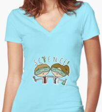 Science Babies Women's Fitted V-Neck T-Shirt