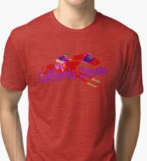 Fun California Chrome Design Tri-blend T-Shirt