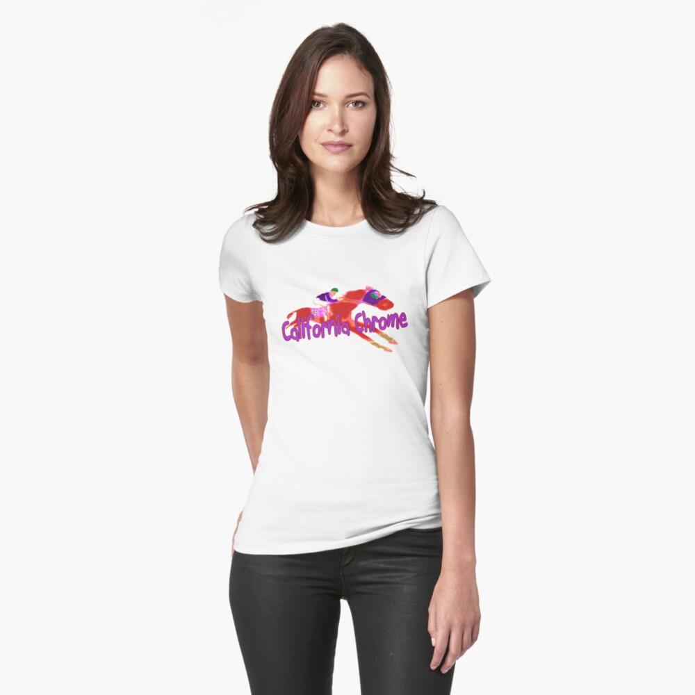 Fun California Chrome Design Fitted T-Shirt