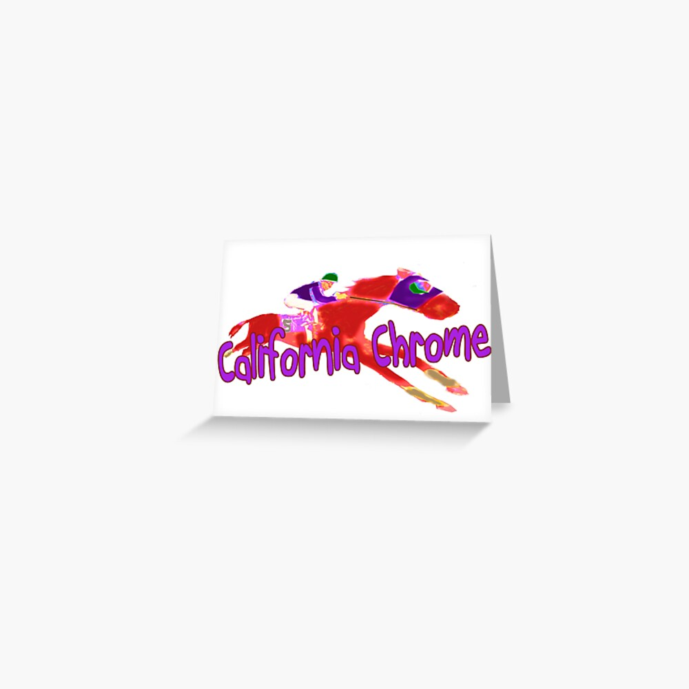 Fun California Chrome Design Greeting Card