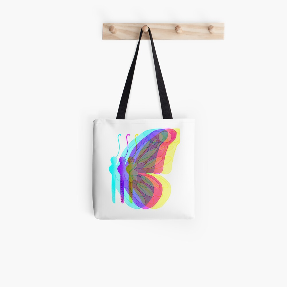Rainbow Butterfly  Tote Bag