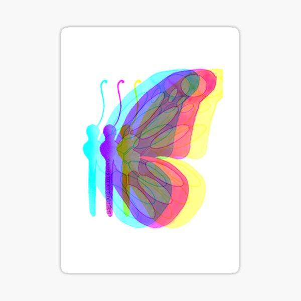Rainbow Butterfly  Sticker