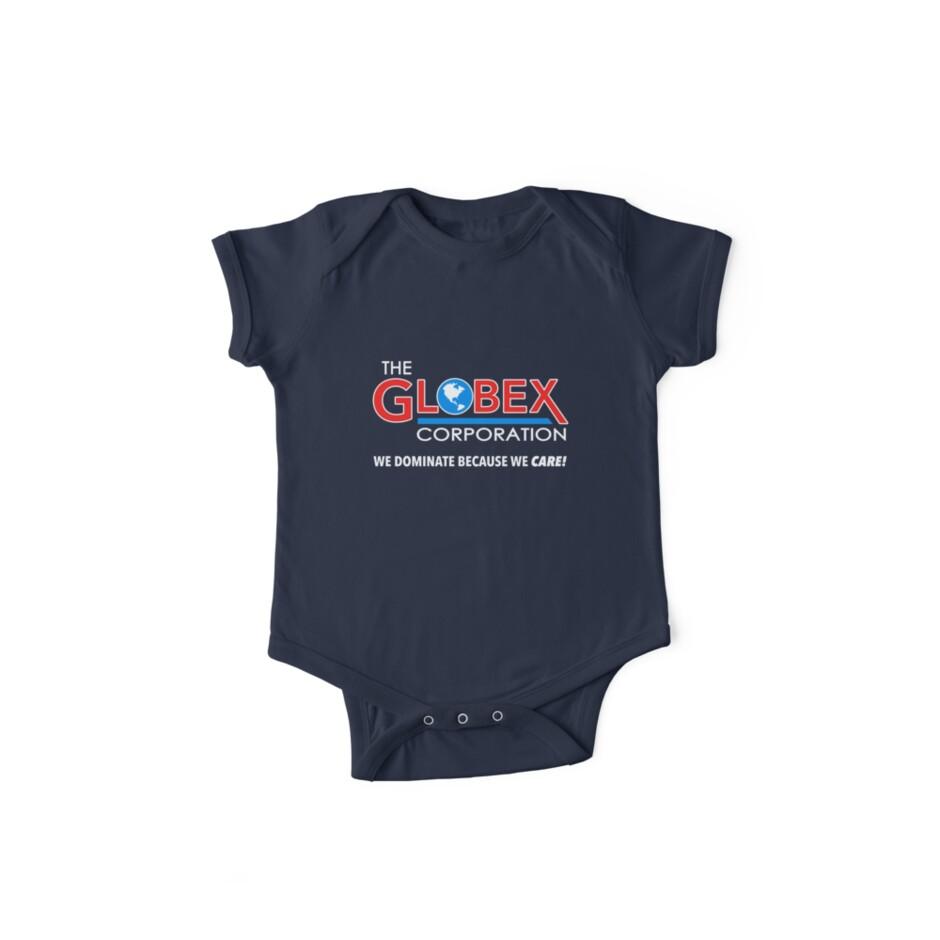 96dc5e818 Body de manga corta para bebé «Camiseta Globex Corporation» de Dumb ...
