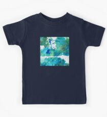 Blue And Green Abstract - Imagine - Sharon Cummings Kids Tee