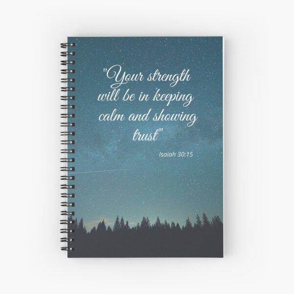 Texto del año de JW 2021, Isaías 30:15, gran idea de regalo para los testigos de Jehová Cuaderno de espiral