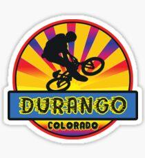 MOUNTAIN BIKE DURANGO COLORADO BIKING MOUNTAINS Sticker