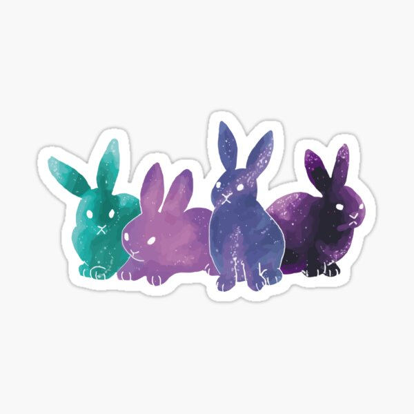 Space bunnies! Sticker