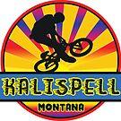 MOUNTAIN BIKE KALLISPELL MONTANA BIKING MOUNTAINS by MyHandmadeSigns