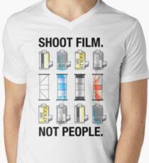 SHOOT FILM. NOT PEOPLE. Men's V-Neck T-Shirt