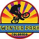 MOUNTAIN BIKE WINTER PARK COLORADO BIKING MOUNTAINS by MyHandmadeSigns