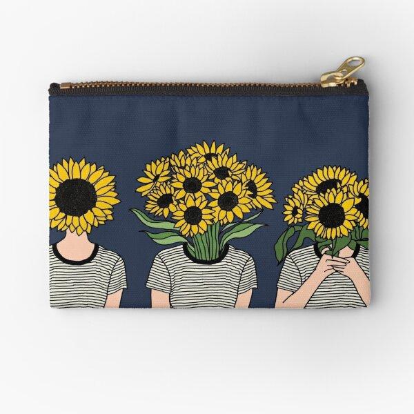 Sunflower Humans Zipper Pouch