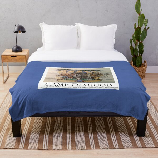Dr. Who Quest at Overnight Camp Demigod: Camp Fandom Throw Blanket
