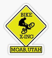 MOUNTAIN BIKE MOAB UTAH BIKE XING CROSSING BIKING MOUNTAINS Sticker