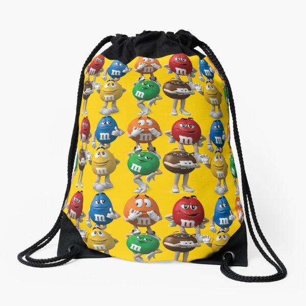 M&M Chocolate Colour Characters Collection Drawstring Bag