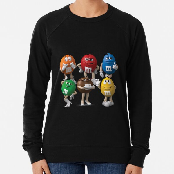 M&M Chocolate Colour Characters Collection Lightweight Sweatshirt