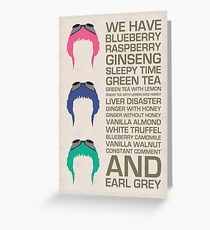 Myriad Of Teas Greeting Card