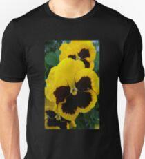 Two Tone Yellow/ Black Pansy T-Shirt