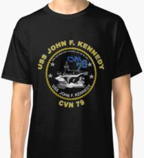USS John F. Kennedy (CVN-79) Crest for Dark Colors Classic T-Shirt