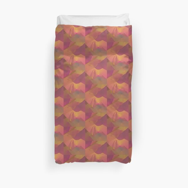 Purple Gold Abstract Sunset Art Duvet Cover