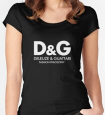 Deleuze - Guattari - Fashion Philosophy - White Women's Fitted Scoop T-Shirt
